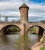 Monnow Bridge, Monmouth, Wales. UK (staneastwood - 2 mil views - Thank you all.) Tags: monmouth wales unitedkingdom gb staneastwood stanleyeastwood bridge monnow water river riverbank weir building architecture tower sky