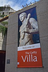 Getty Villa Entrance (AntyDiluvian) Tags: california la losangeles pacificpalisades villa gettyvilla museum ancientromanart ancientgreekart entrance hanging wallhanging welcome