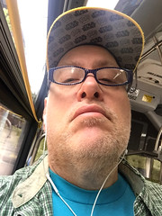 "Day 2341: Day 151: ""On the bus"" mode (knoopie) Tags: 2018 may iphone picturemail doug knoop knoopie me selfportrait 365days 365daysyear7 year7 365more day2341 day151"