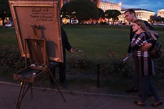 finished and titled, updated... (f_lynx) Tags: sonya9 sonyfe282 flynx saintpetersburg spb russia shadows dark street 2x3 couple artist painting painter fun park green grass girl man night people trees