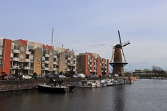 Voorhaven (YY) Tags: delfshaven rotterdam canal voorhaven boat windmill netherlands southholland