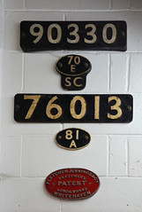 Numberplates (davids pix) Tags: 90330 76013 smokebox numberplate 70e salisbury 81a old oak common fletcher jennings steam locomotive eastleigh lakeside railway 2018 16062018
