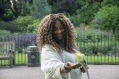 DSC_2382 (photographer695) Tags: wintrade rest recreation hyde park london feeding parakeet birds with nicole ross