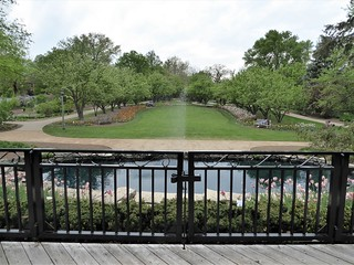 Lombard, IL, Lilacia Park, View from Deck Overlooking the Pond