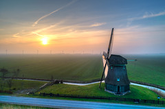 Sunset at Molen F. (Alex-de-Haas) Tags: burgerbrug dji dutch fc6310 holland molenf nederland nederlands netherlands noordholland achtkantebinnenkruier aerial aerialphotography air boerenland cirrus drone fog grondzeiler landscape landschaft landschap lucht meadows mill mist molen oldmill polder poldermolen skies sky sundown sunset weilanden windmill windmolen winter zonsondergang nl