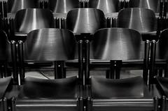 ....empty seats.... (christikren) Tags: austria blackwhite christikren emptyseats monochrome vienna wien michaelerkirche camera europe mono dark seats panasonic
