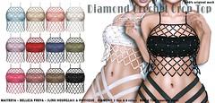 Diamond-Crochet-Crop-Top (Insomnia Store) Tags: insomnia tcf event exclusive maitreya slink belleza original crochet net top diamond fashion secondlife
