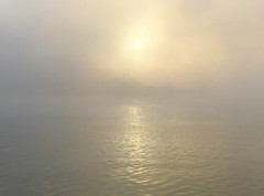 Homage to J. M. W. Turner (WinRuWorld) Tags: sea sky water mist fog atmosphere newcastle nsw newsouthwales australia ethereal soft dreamy sunrise jmwturner weather winter canon canonphotography hunterriver coast outdoor waterscape simplicity minimalism minimalist light