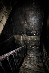 🔥 (AloysiaVanTodd) Tags: urbex urban explore explorer escape creepy dark decay darkness dismal sombre shades staircase stair burn fire photography photographer art france abandoned artist poetry pr0jectuno sombreexplore