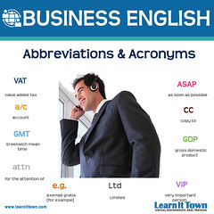 LIT BE Abbreviations and Acronyms (Learn It Town) Tags: learn it town business english flashcards