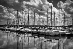 Lac de Madine N&B (denis.fleurot) Tags: lacdelamadine meuse lorraine régiongrandest france port noiretblanc nb bw bateaux boat harbor eau