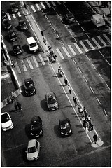 Orthodox crossing... (zapperthesnapper) Tags: sonyrx100 sonyimages sonycybershot sony blackandwhite mono monochrome monochromatic paris france street streetlife streetscene