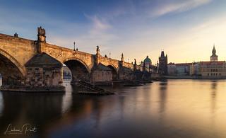 Charles bridge in the morning light...