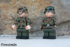 Prinz Eugen SS Soldaten, custom Lego (Forestmän) Tags: lego wwii ww2 ii waffen ss custom camo camouflage