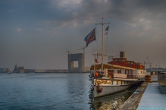 """NDSM """"Captain Anna"""" ready for the tourist trip (Rudaki1959) Tags: walking watch walk waterfront skies harbor ships cityscape city amsterdam netherlands ndsm landscapes cloudscape clouds"""