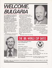Scotland vs Bulgaria - 1978 - Page 3 (The Sky Strikers) Tags: scotland bulgaria european international match friendly sfa hampden park programme 20p