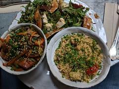Chicken with salads (koukat) Tags: madrid viaje travel spain espana salads comida lunch almuerzo ensaladas vegetables verdura eggplant aubergine olivia te cuida cafe restaurant
