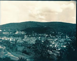 Blick auf Heidelberg vom Philosophenweg