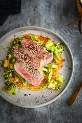 miso ramen pancake with cabbage and steak (Malgosia Osmykolorteczy.pl) Tags: food foodie foodphoto foodstyling fotografia foodporn foodphotography foodstylist feed