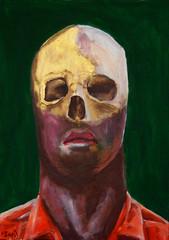 money (Dave Nevard) Tags: expressionism portrait portraitpainting portraitoncanvas skull expressionist