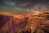 The Milky Way over Spider Rock Overlook, Canyon de Chelly, Arizona (diana_robinson) Tags: milkyway nightphotography nightsky stars rockformation remote noone alone solitude spiderrockoverlook canyondechelly arizona