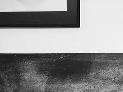 Chalkboard wall (smallcirclebigcircle) Tags: wall simple blackandwhite chalkboard