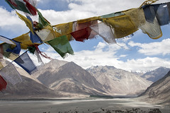 Blowing in the wind (bag_lady) Tags: himalayas ladakh diskitmonastery gompa prayerflags blowinginthewind india buddhism landscape