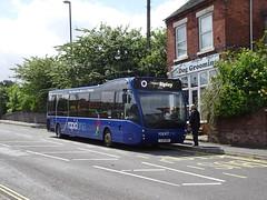 rapid one 851 Heanor (Guy Arab UF) Tags: trent barton 851 yj14bsu optare versa v1170 heanor rapid one bus derbyshire wellglade buses wellgladegroup