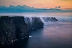 Cloud falls at Cliff Moher (Donald L.) Tags: cloudfalls ireland cliffmoher