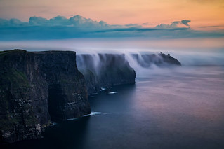 Cloud falls at Cliff Moher