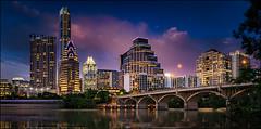 Austin Skyline (PrevailingConditions) Tags: dusk sunset austin texas tx city citylights cityscape skyline longexposure