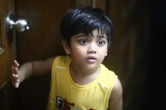 Diddaaaaaaa !!!! (N A Y E E M) Tags: umar kalam son portrait door availablelight indoors ramadan night home rabiarahmanlane chittagong bangladesh sooc waistlevel uma lulu