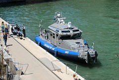 Chicago Police Marine Patrol (Cragin Spring) Tags: city chicago chicagoillinois chicagoil illinois il downtown midwest unitedstates usa unitedstatesofamerica pd police policedepartment boat policeboat marinepatrol chicagopolicedepartment river chicagoriver