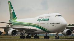 YI-AQQ (tynophotography) Tags: iraqi airways 747400 yiaqq schiphol airport maintenance boeing 747 744