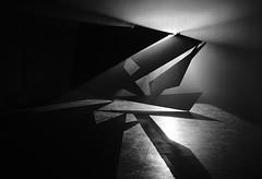 Shape - Festival Interstice (Simon BOISVINET) Tags: olivierratsi interstice caen art normandie blackandwhite acros x100f fujifilm anamorphose rectangle fog photography triangle forme structure