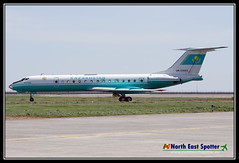 UN-65683_TSE_26-05-18 (RWY07) Tags: astana tse uacc kazakhstan air force kadex 2018 tupolev tu134 government un65683