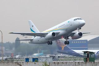UP-SJ001 Sukhoi SSJ100-95LR Comlux KZ @ Almaty ALA UAAA