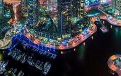 Dubai Marina Walk (Siebring Photo Art) Tags: cayantower dubai dubaimarina dubaiskyline emirates uae rooftop skyline sunset verenigdearabischeemiraten ae