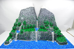 LEGO Mountain (ben_pitchford) Tags: lego mountain waterfall moc diorama modular