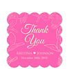 Leaf Crown Pink Thank You Sticker (Set of 25 pcs) (Gift Elements) Tags: gifttags wedding stickers weddingtags weddinggifttags weddingstickers thankyou leaf leaves leafcrown pink pinkwedding giftwrapping favour favor favorsticker weddingparty creative customise customize personalise giftelements