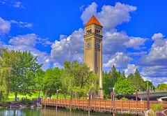 "The Clock Tower (jimgspokane) Tags: clocktowers riverfrontpark spokanewashingtonstate spokaneriver rivers parks ""nikonflickraward"" today´sbest otw"