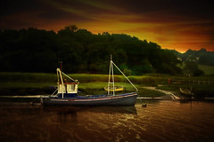 Fishing Boat (andycurrey2) Tags: sunset dusk boat ship river water leica