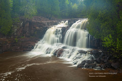 Upper Falls on a foggy spring day (susannevonschroeder) Tags: fog longexposure northshore spring waterfall minnesota lakesuperior outdoors hiking