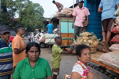 Loading the trucks, Manning Market, Colombo, Sri Lanka (ambfotos1) Tags: working loadingtrucks vegetablesellers market streets streetphotography streetscene colombo srilanka markets