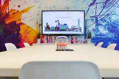 Office Shot (aaron.mcguire) Tags: pixelkicks office desk chairs bowl television coasters agency seo wallpaper website