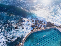 Monday's (Jay Daley) Tags: djiphantom4pro dji bronte nsw australia sydney swimming healthandfitness exercise dailylife oceanpool outside pool dronephotography drone aerialphotography aerial