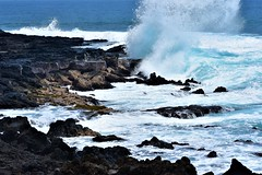 Rockbreaker (thomasgorman1) Tags: splash crash crashing wave breaking rocks rocky lavarock tide shore ocean island hawaii kona coast kailua nature pacific waves blue water nikon