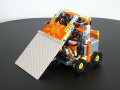 Sunny Side Up - LEGO Pneumatic Flipper (Robot Wars) (technoandrew) Tags: lego robot wars fighting combat machine technic sunny side up flipper pneumatic lifter ram piston cylinder air electric remote controlled battery receiver weapon white orange tank valve compressor pump motor