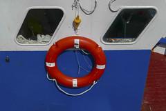 Blue,white, red (JLM62380) Tags: blue white red boat fish harbor bouée lifebuoy buoy