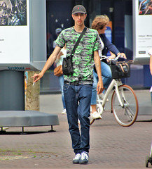 IMG_1112 (Skinny Guy Lover) Tags: outdoor people candid guy man male dude walking cap smoking smoker jeans bluejeans adidasshoes skinny veryskinny slender veryslender slim veryslim lean tall skinnyarms belt